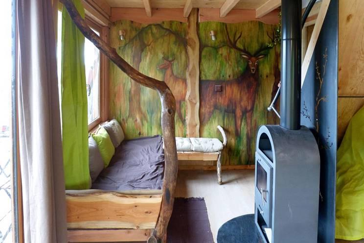 Intérieur cabane fresque