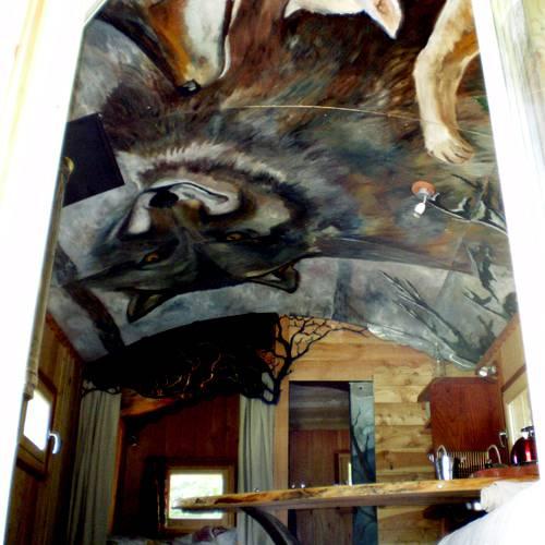 Fresque plafond roulotte